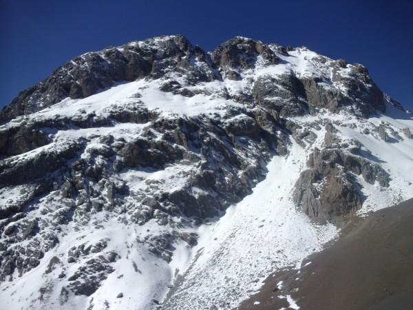 the north face of Asura Peak