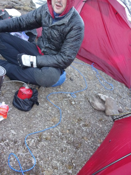 our camp at the base of the peak wasnt comfortable enough to earn it t...