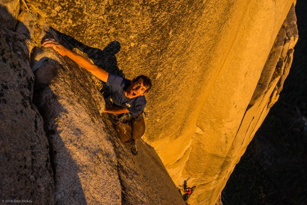 Alex Honnold (top of Muir Wall, El Capitan ?)