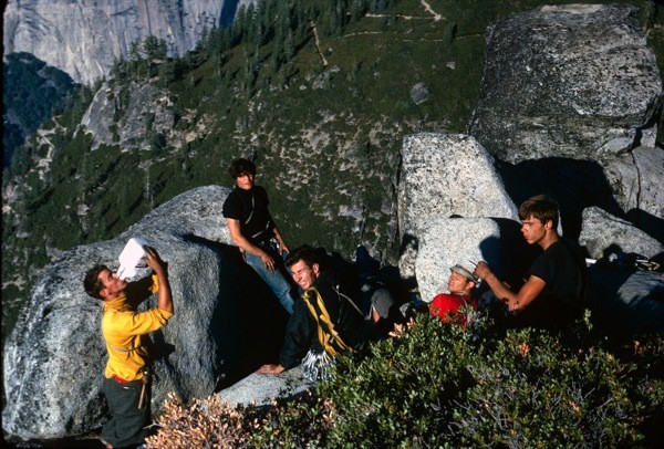 Summit of Sentinel Rock; L -> R:  K. Boche; K. Schmitz; C. Willett;...