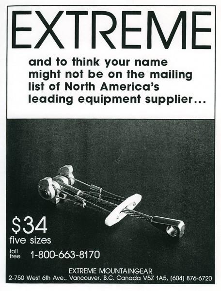 Extreme Mountaingear advertisement