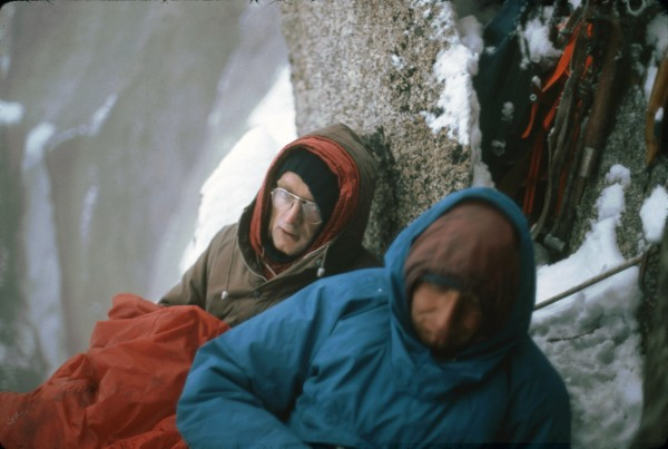 A crappy bivy- Les Douites with Wil King and Tom Hurley, (both fro...
