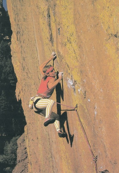 Edlinger aux USA, Colorado, Rainbow Wall 5.13a, September 1985 (Ve...