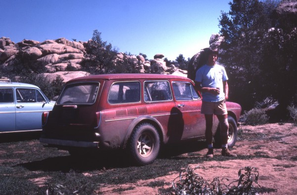 Getting there was half the fun. Dan C. with his VW Squareback 1978
