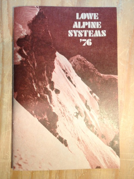 1976 Lowe Alpine Systems catalog, cover