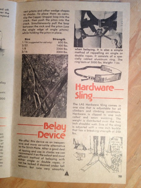 1976 Lowe Alpine Systems catalog <br/> page 20