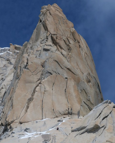 Spot the Leader on the North Ridge of Guillaumet! (by Liz Sloss)