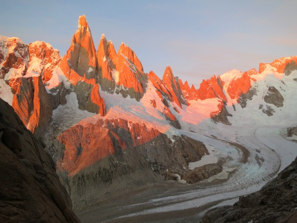 Sunrise from Alpine Ramp on Fitz Roy Massif