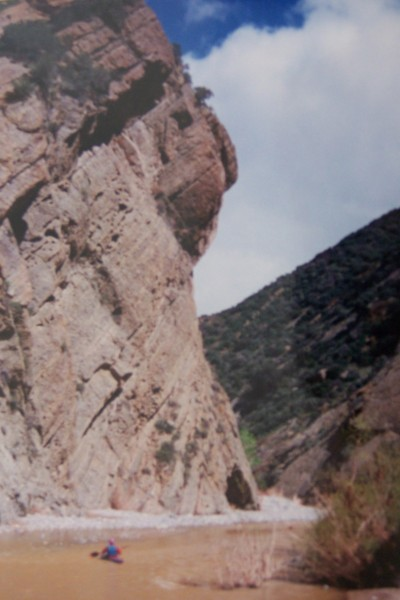 Fish canyon narrows route supertopo rock climbing for Lake piru fishing report