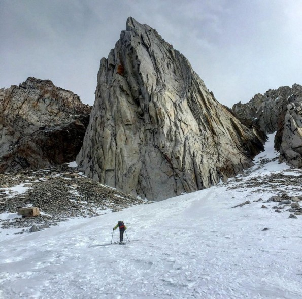 Chris McNamara approaching the Incredible Hulk in Winter - February.
