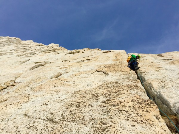 Jeremy Collins on Pitch 2 of B Line on the Incredible Hulk.