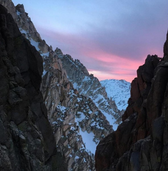 Evening light as we started the descent. This photo is taken from the ...