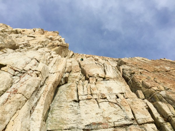 Jeremy Collins after the cool 5.9 stemming corner (pitch 5) an...