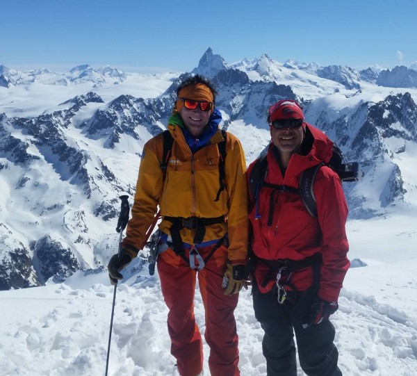 Dave H. & Ron V. summit of Pigne d'Arolla