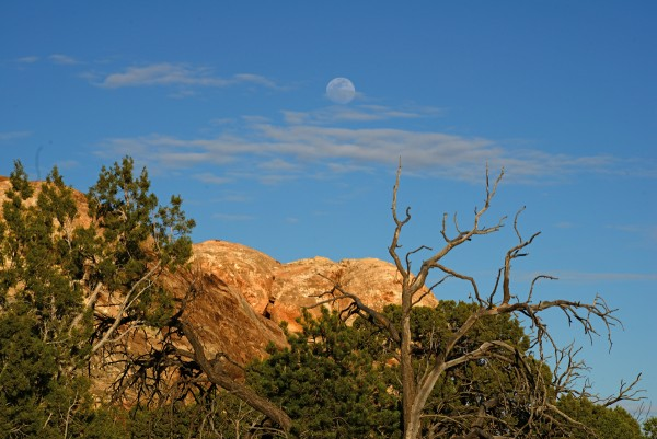 moonrise from the Canyonlands Visitor Center, April 19, 2016