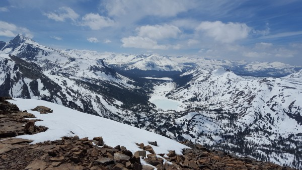 tioga pass from tioga peak