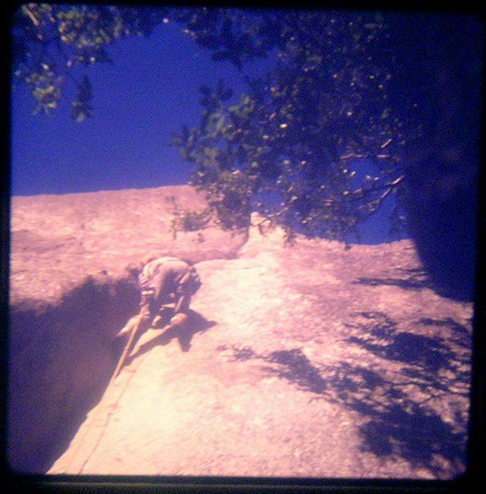 Lou Dawson higher up on Stone Groove, fall 1973