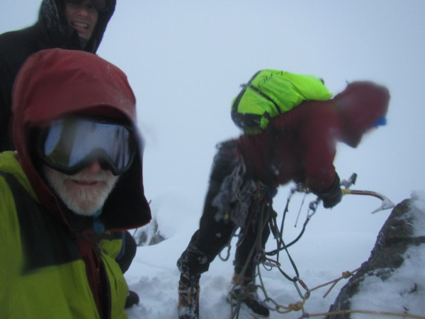 Masa Sakano, Steve Towne and me on Ben Nevis (1/21/16).