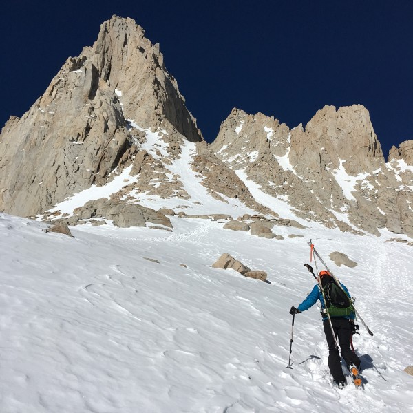 Mt Whitney Mountaineers Route, March 2016