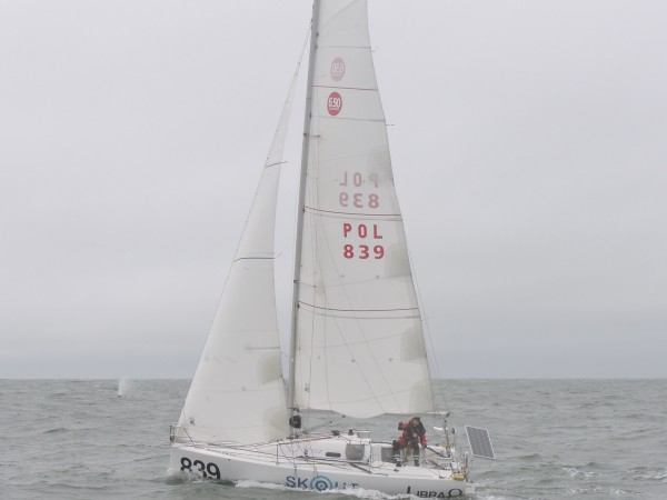 Just outside the Golden Gate.   Libra, a Pogo, skippered by a genuine ...