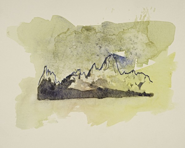 Cerro Torre and the Fitz Roy Massif Watercolor and Ink (print for ...