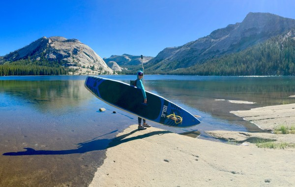 @torlow getting ready to SUP across Tenaya Lake.