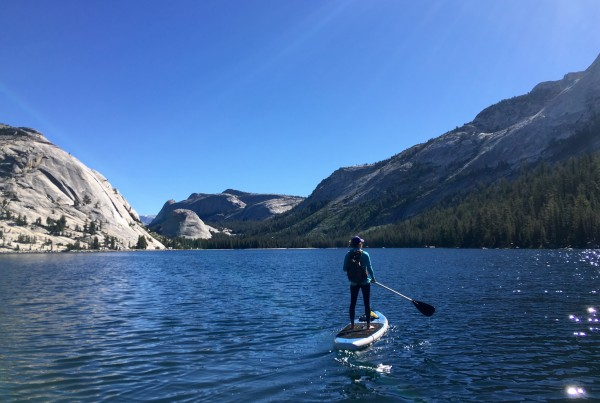 SUP across Tenaya Lake