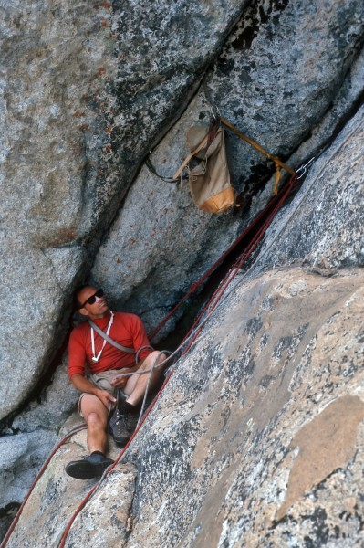 Crescent Arch, Daff Dome, Royal Robbins, Pic by Pat Ament, about 1968