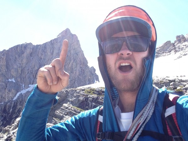 Stoking up for the North Ridge of the Grand Teton!