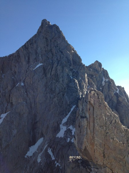 North Face of the Grand Teton as seen from the south ridge of Mt. Owen...
