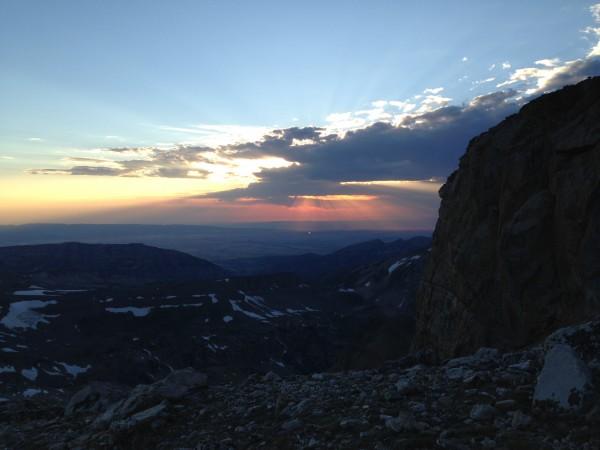 Sunset over Idaho from the Middle-South col bivy.