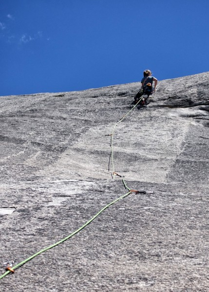 Belyn Grant on second ascent of Ice House Roof (first pitch, that ...