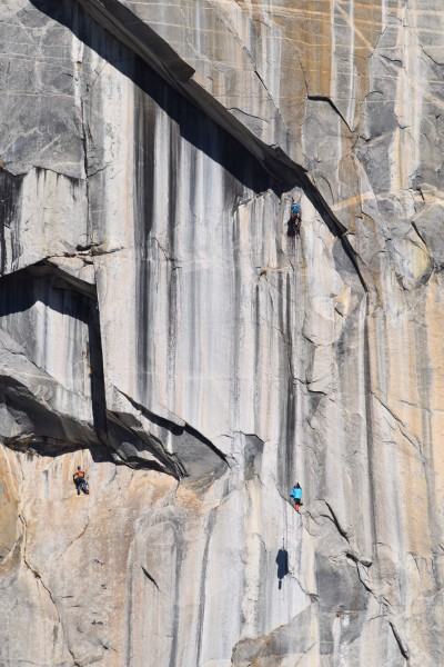 Ryan Hauling from the top of Pitch 4 with me cleaning below. This is w...