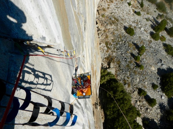 Happy to break out the portaledge for the day, and from here on out th...