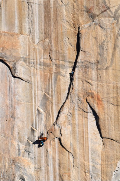 Ryan halfway up the spectacular pitch 7, while I lounged comfortably o...
