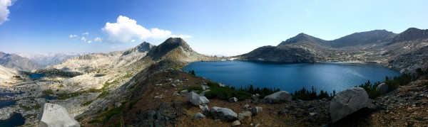 Tunemah Lake on the right and looking down the Goddard Creek Canyon on...