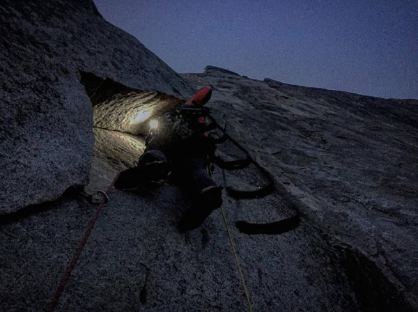 Leading Pitch 4 in the dark