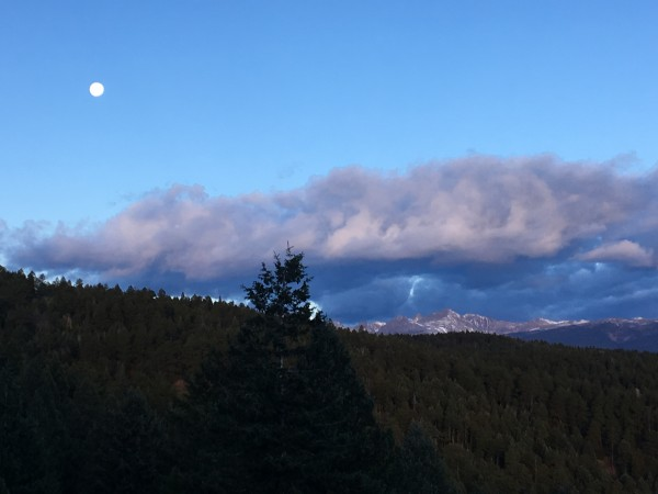 Sunrise and moon set, Indian Peaks.
