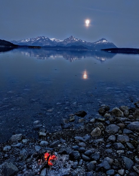 Glacier Bay moon
