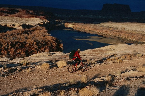 Steve on the White Rim trail very near where we camped on the second d...