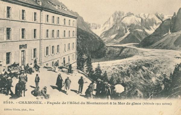 Hotel du Montanvert et la Mer de glace