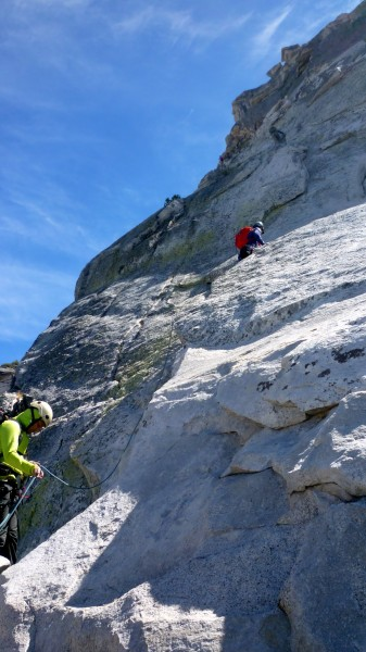 Bottle neck at the top 2 pitches. Fun climbing and although crowded, e...