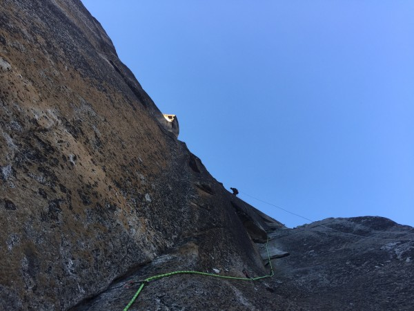 Todd finishing the 7th Pitch above the Strange Dihedral as the last of...