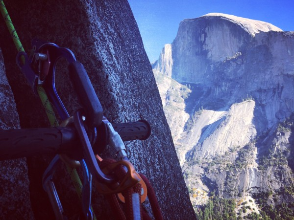 Jugging the 9th with our ever-present muse, Half Dome.