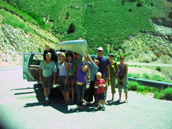 Leichtfuss family on the way to Tenaya, Tioga Pass