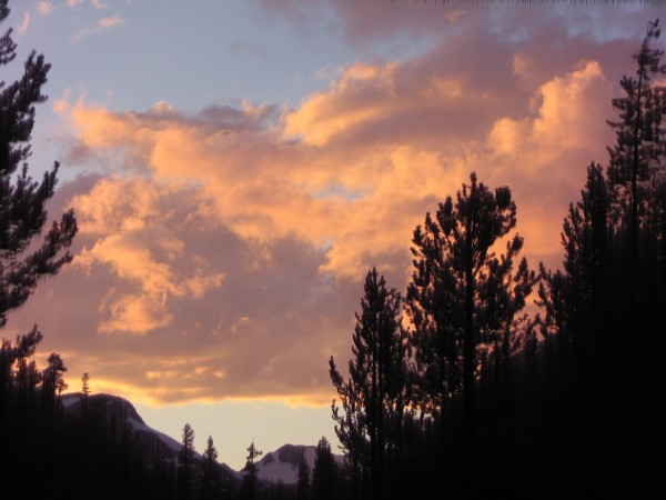 View from the front deck of my yurt, Tioga Pass.