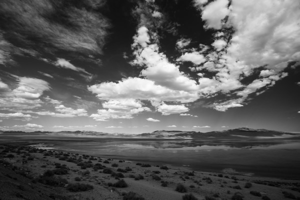 Clouds over Pyramid Lake, Nevada       <br/>