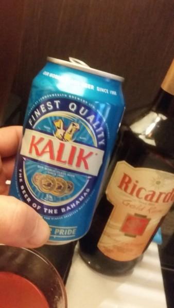 Bimini.  Kalik beer