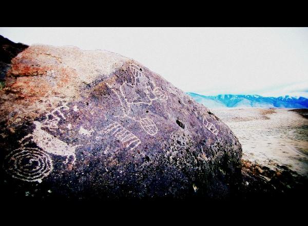 Tablelands petroglyph