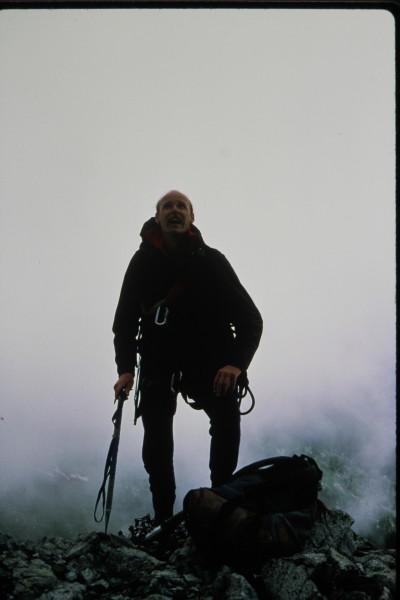 Peter Dea on the summit of Blanca Peak.